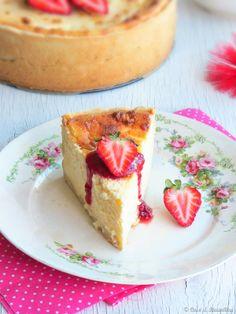 Coco e Baunilha: Tarte au fromage blanc ::: Tarte de queijo fresco