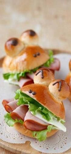 Mini Frogs With Ham And Cheese