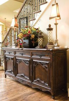 la rochelle sideboard beautiful in this large entryway but would