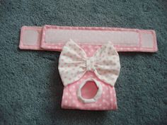 Dog Diapers - Pink and White Polka Dot Panty Dog Diaper Dog by CodysHaven