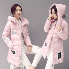 Christmas Gifts New 2016 Women Winter Parka Coats Padded Jacket Outerwear Women Slim Hooded Cotton Overcoat Down Parka GV299(China (Mainland))