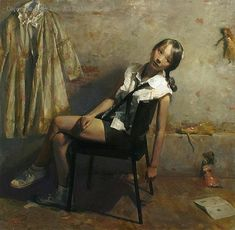 luo tong art | Lonely girl. Tong Luo (1969, Chinese-born ... | Lectura i Art - Rea...