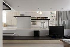 Black And White Contemporary Apartment Smartly Designed