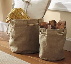 Reinforced Burlap Baskets | Pottery Barn