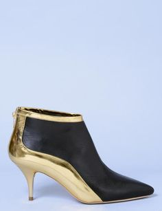 Brooks Brothers Haircalf Kitten Heel Booties ($398) ❤ liked on ...