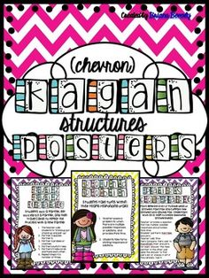 These posters come in 3 formats to help you choose what's right for your classroom. This set includes posters for 15 different Kagan Structures.  Posters are available with a step-by-step description of the structure -OR- with a quick summary of the structure.