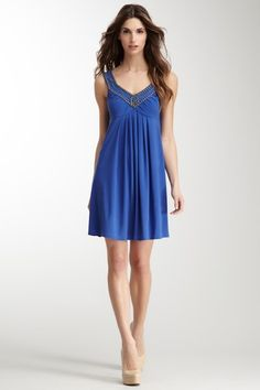 Embellished V-Neck Dress by Decode 1.8 on @HauteLook
