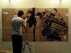 Michael Rippens, tape art