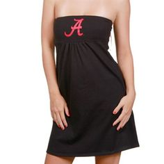 @Rita Polson   game day dresses   Alabama Crimson Tide Ladies Black Tube Top Dress