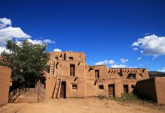The eponymous Taos Pueblo has been occupied for almost a millennium — the clay community was built between 1000 and 1450 AD.   - CountryLiving.com