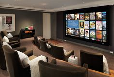 20 Well-Designed Contemporary Home Cinema Ideas for the Basement