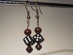 Six Sider Earrings with Beads by risas11722 on Etsy, $10.00