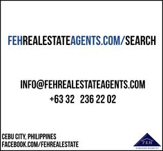fehrealestateagents.com/search Cebu City, Philippines, Search, Research, Searching, Cebu