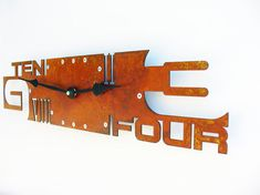 Outnumbered VI Modern Wall Clock Rusted by All15Designs on Etsy, $58.00