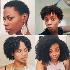 Et d'être patient-e.   15 photos avant/après de cheveux naturels