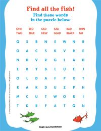 One Fish Two Fish Dr. Seuss Tags *Free Printable | Dr. Seuss, Fische ...