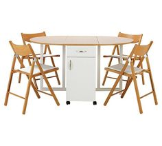 Buy Collection Willow Folding Dining Table & 4 Chairs -Two Tone at Argos.co.uk, visit Argos.co.uk to shop online for Dining sets, Dining tables and chairs, Home and garden