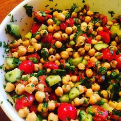 Need a #healthy lunch idea for work? Check out my new recipe for #ChickpeaSalad…