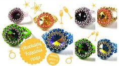 beaded ring tutorial - YouTube
