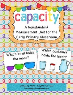 capacity worksheets for kindergarten worksheets volume of liquid teacher pinterest. Black Bedroom Furniture Sets. Home Design Ideas