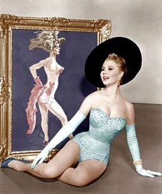 """Mitzi Gaynor is pictured here in """"Les Girls"""" which also starred Gene Kelly and Kay Kendall. Costume by Orry-Kelly. Old Hollywood Glamour, Vintage Hollywood, Golden Age Of Hollywood, Classic Hollywood, Classic Actresses, Hollywood Actresses, Orry Kelly, Gene Kelly, Mitzi Gaynor"""