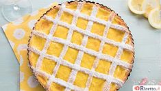 Crostata al limone Biscotti, Vegetable Dishes, Pavlova, Mousse, Waffles, Deserts, Cooking Recipes, Sweets, Cookies