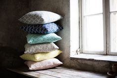 ESKIMO cushion covers, 100% wool, woven in Lapua, Finland, design Reeta Ek