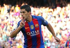 Suarez extended Barcelona's lead further before the half-time whistle with a strike just as sumptuous as Messi's