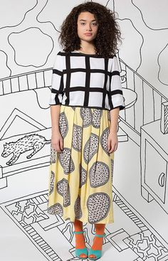 High street fashion chain American Apparel has launched a 43-piece collection of clothing featuring graphic prints by Memphis Group designer Nathalie Du Pasquier.