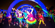 Running is more popular and social, with themed fun runs that turn into roving parties complete with prom gear, body paint and costumes. Here are a few you should check out. Night Nation, Fundraiser Themes, Run Or Dye, Electric Run, Glow Run, Team Costumes, Neon Painting, Mud Run, Stretchy Headbands