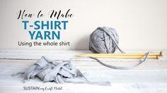 Hogyan készítsünk pólóból fonalat,amit akár horgolásra is használhatunk
