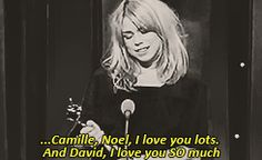 Billie loves David GIF set. Pinning because of Noel and Camille's face in the last gif! just OMG could they be any cuter!!!!!