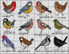 /blog-bird-selection-chart.png Cross Stitching - birds  ponto cruz - passáros - passarinhos
