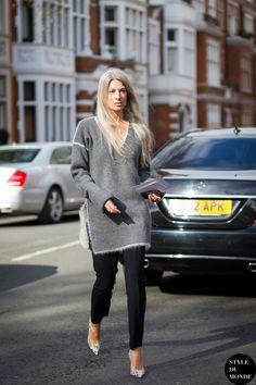 London Fashion Week FW 2015 Street Style: Sarah Harris - STYLE DU MONDE | Street Style Street Fashion Photos
