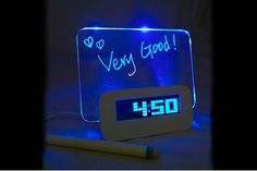 $21 for an LED Erasable Board Alarm Clock - Shipping Included