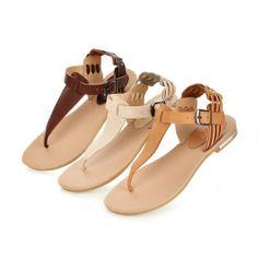 2014 fashion Shoe Flip Flops Flats Sandals women genuine leather shoes summer Flat sandals size 34-39