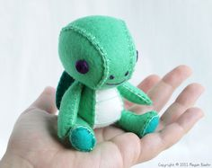 Turtle Wool Felt Designer Plush Art Doll - Sullivan - Made to Order. $75.00, via Etsy.