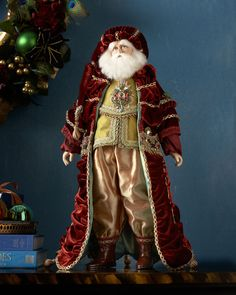 Shop Nativity Santa Doll from Katherine's Collection at Horchow, where you'll find new lower shipping on hundreds of home furnishings and gifts. Porcelain Dolls For Sale, Fine Porcelain, Porcelain Jewelry, Santa Doll, Christmas Interiors, Fantasy Women, Lady Fantasy, Father Christmas, Christmas Christmas