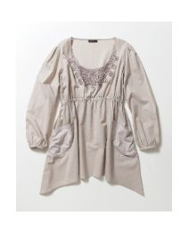 plus size tunic with embroidery