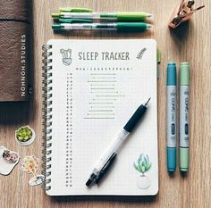 have a sleep tracker in my bujo but i love the simplicity of this layout. Bullet Journal Mise En Page, Bullet Journal Journaling, Bullet Journal Health, Bullet Journal Planner, Bullet Journal Notes, Bullet Journal Spread, Bullet Journal Layout, My Journal, Journal Pages