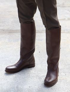 Coming soon! Our Solo Boots. Mens High Boots, Mens Riding Boots, Mens Biker Boots, Horse Riding Boots, Tall Leather Boots, Tall Boots, Men's Boots, Chippewa Boots, Mens Boots Fashion