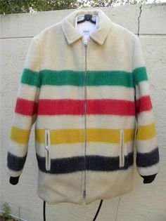 50'S PEERLESS HUDSON BAY WOOL POINT BLANKET REVERSIBLE COAT JACKET
