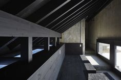 Image 15 of 35 from gallery of Inverted House / The Oslo School of Architecture and Design + Kengo Kuma & Associates. Photograph by Shinkenchiku-sha Kengo Kuma, Construction Drawings, Construction Design, Oslo, School Architecture, Interior Architecture, Local Contractors, Wood Structure, Black Box