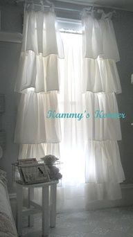DIY Shabby Chic   DIY:: Shabby Chic Curtains from sheets
