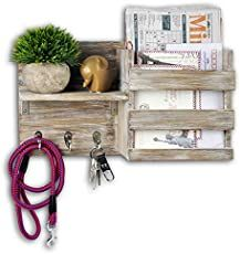 Top 10 Most Gorgeous Macrame Tutorials by Soulful Notions + Interview | Macrame for Beginners Wood Shelves, Floating Shelves, Diy Design, Rustic Farmhouse Entryway, Mail And Key Holder, Wall Key Holder, Torch Wood, Key Organizer, Plastic Organizer
