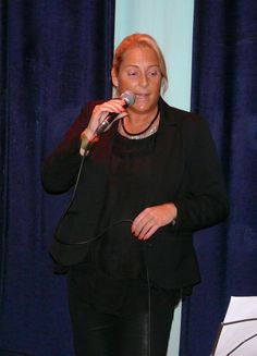 Lilian singing Orange Coloured Sky in Amsterdam