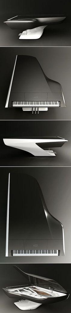 Futuristic Grand Piano by Peugeot Design Lab