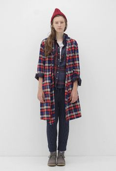 Plaid long shirt | oversize | Grunge