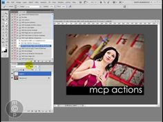 Video tutorial on creating color branding bars photos in Photoshop via MCP Actions.