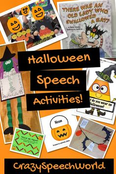 Crazy Speech World: Halloween Speech Ideas!